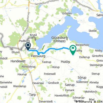 Radrunde von Harrislee nach Grundhof