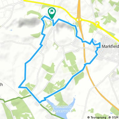 Cliffe Hill-Markfield Hill-12km