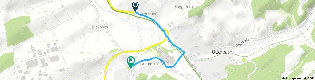 Brief bike tour from Otterbach to Kaiserslautern