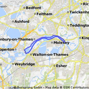 Cycling routes and bike maps in and around SunburyonThames