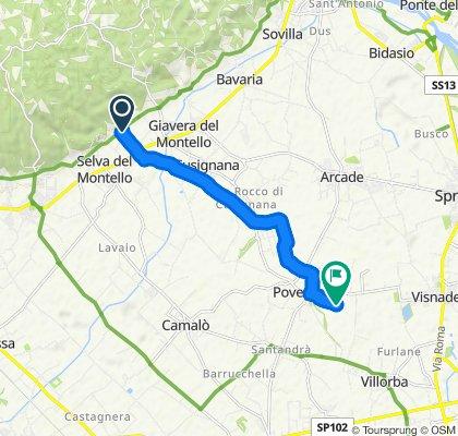 Short ride from Volpago del Montello to Povegliano Veneto