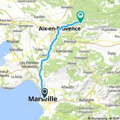 D6 - Marseille - Lac-du-Bimont - 40km - 530m