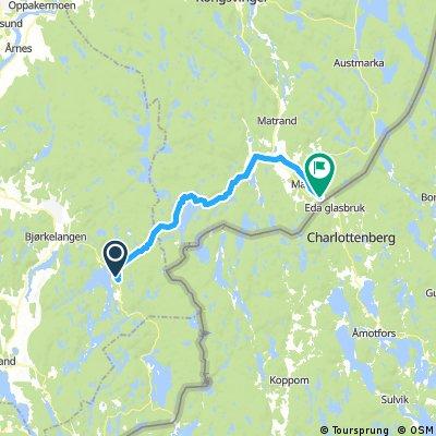 Dag 2 Sö 1 aug Kirkevika - Magnor 45 km