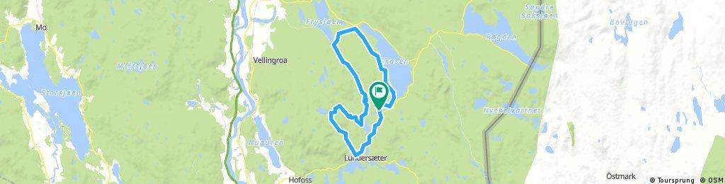 Long ride through Lundersæter