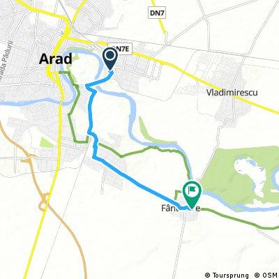 Short ride from Arad to Fântânele