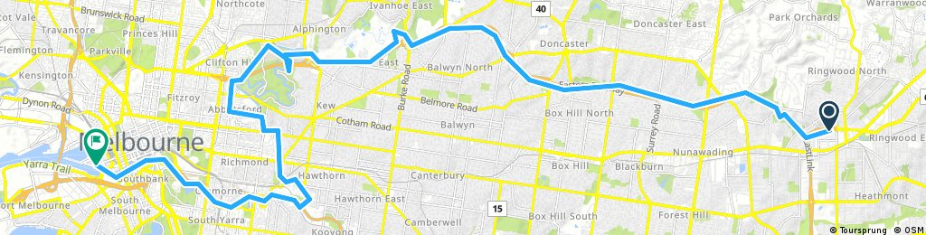 rigwood to melbourne
