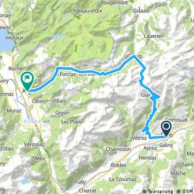 Sion - Sanetsch - Aigle