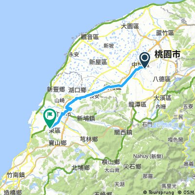 Long ride from 中壢區 to 東區