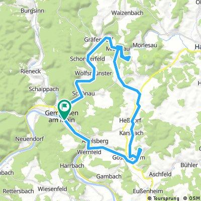 Gemünden 46km Rundweg