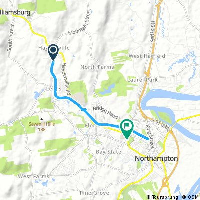 ride from Williamsburg to Northampton