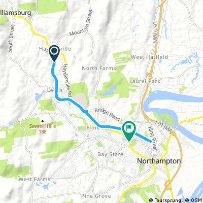 ride from Williamsburg to Northampton