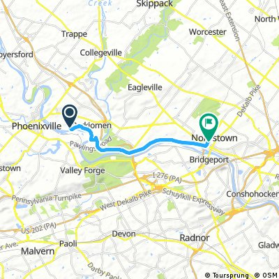 bike tour from Upper Providence Township to Norristown