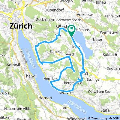 Maur - Zollikerberg - Guldener Höchi - Pfannenstiel - Maur