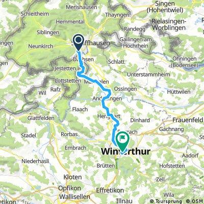 Neuhausen - Bhf. Winterthur (Veloplus)