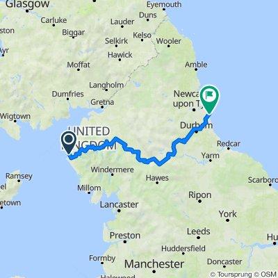 C2C Whitehaven to Sunderland via Kirkby Stephen