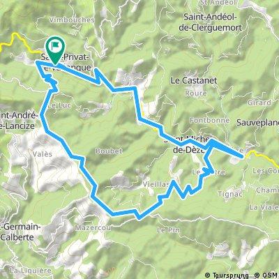 Long ride through Saint-Privat-de-Vallongue