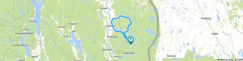 Lengthy bike tour through Lundersæter