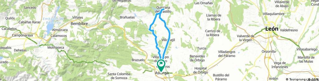 De Astorga al Embalse de Villameca