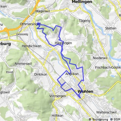 Cycling routes and bike maps in and around Canton of Aargau