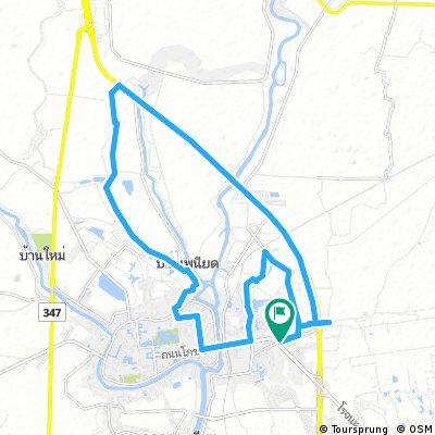 Lengthy ride through Ayutthaya
