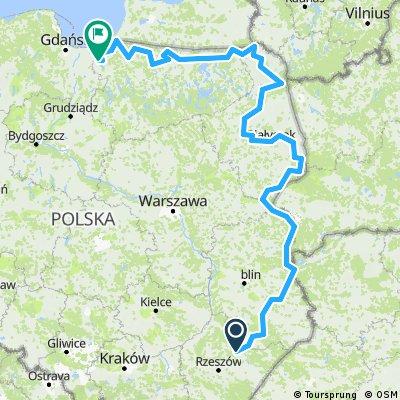Trasa Leżajsk - Elbląg