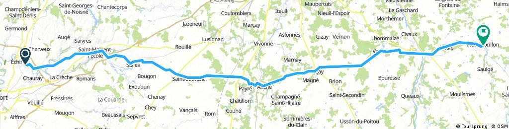 Saint Gelais - Valence étape 1