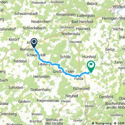 2016 Bayern Tour  Hopfgarten--Milseburg Radweg