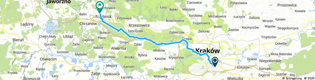 Kraków - Trzebinia (ognisko)
