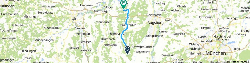 2016 Bayern Tour,Markt Wald--Zusamradweg-Baiershofen