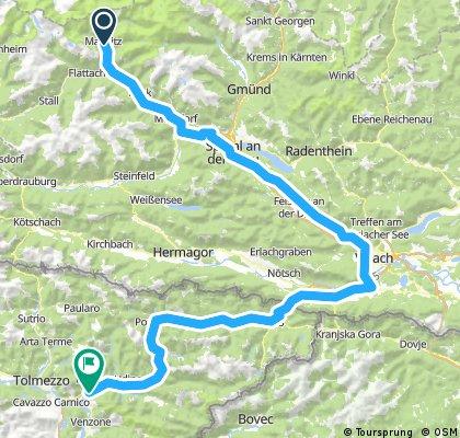 2. Tag Tour Alpe-Adria neu