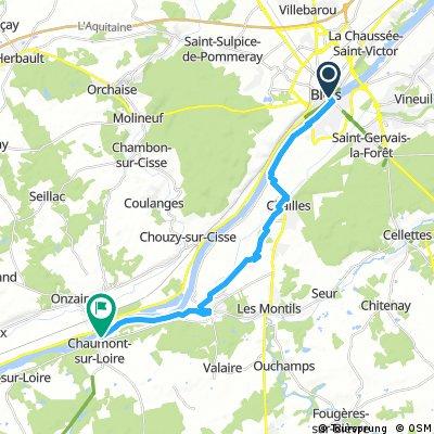 Blois à Chaumont-sur-Loire