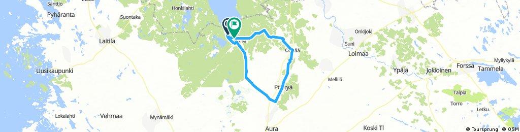 Valas-Riihikoski-Pöytyä-Oripää-Valas
