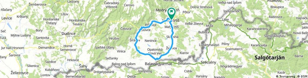 Veľký Krtíš - Kosihovce - Trebušovce - Lesenice - Ďarmoty - Veľký Krtíš