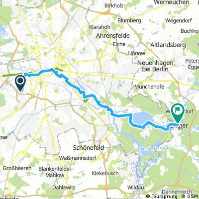 Stadtquerung von W-dorf nach Erkner