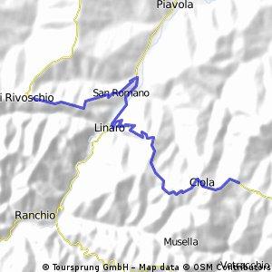 9colli,3.Etappe: Pieve di Rivoschio, Ciola