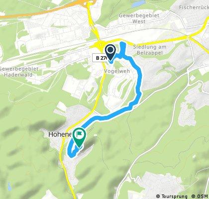 Brief bike tour from Pastviny to Hohenecken