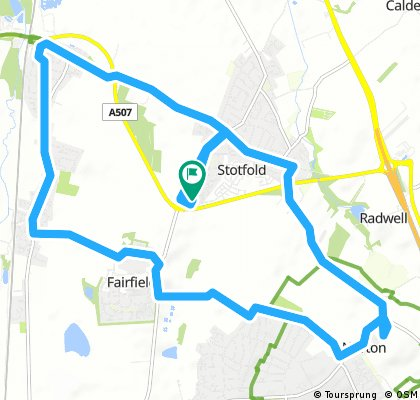 bike tour through Hitchin