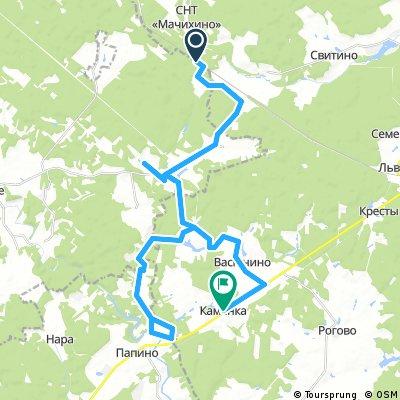 250 км окружной дороги → Водопад Радужный