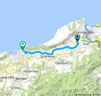 ride from Hondarribia to San Sebastián