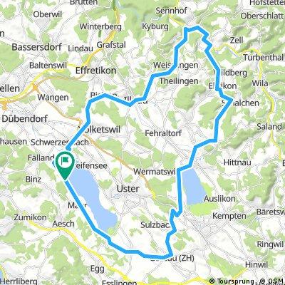 Maur - Kollbrunn - Pfäffikersee - Maur