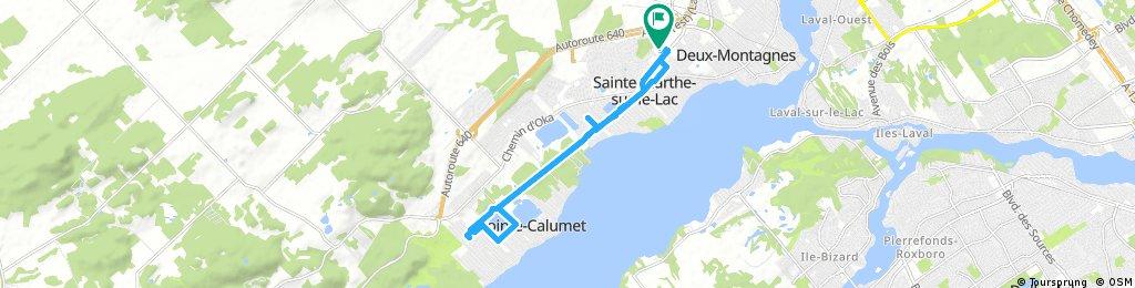 ride through Sainte-Marthe-sur-le-Lac