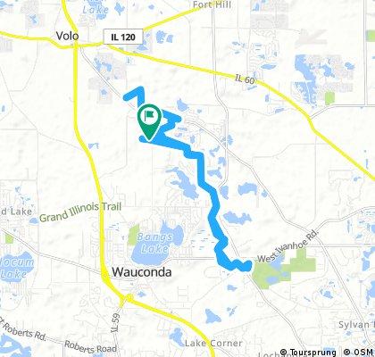 15 mile ride through Wauconda