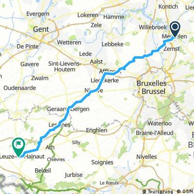 D1-2 Mechelen-Leuze en Hainaut 95 km