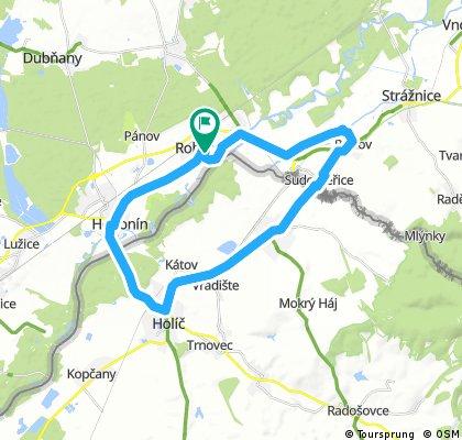 Rohatec 1 - Hodonín - Skalica - Petrov - Rohatec 38km