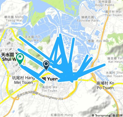 bike tour from Shui Tin Tsuen to Tin Shui Wai