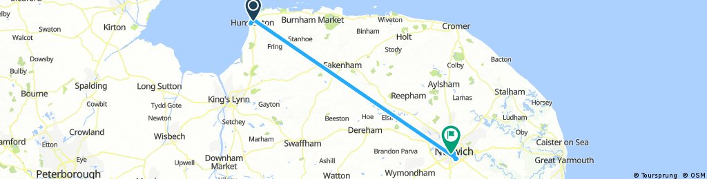 Short ride from Hunstanton to Norwich