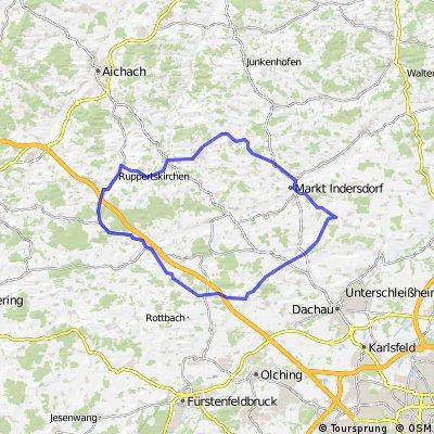 Adelzhausen - Lauterbach - Indersdorf - Altomünster