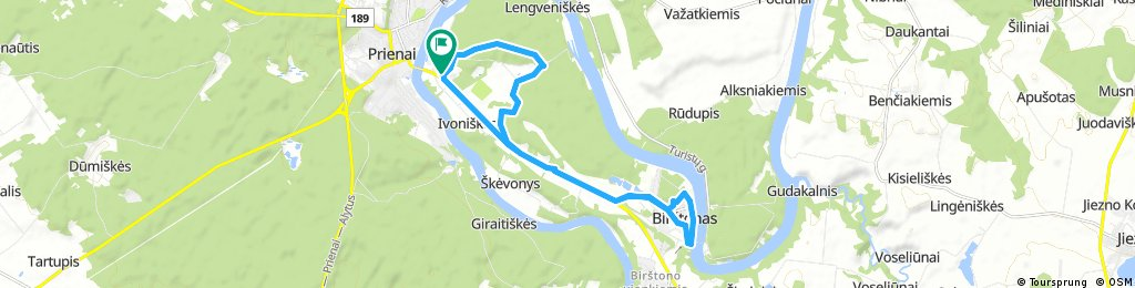 bike tour through Prienai