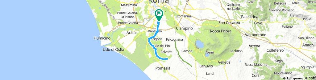 Eur-Pomezia attraverso il parco di Decima-Malafede