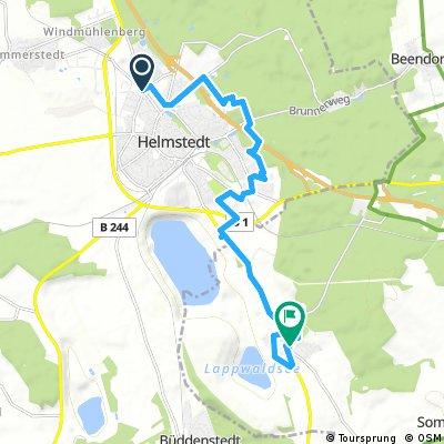 Ausfahrt von Helmstedt nach Harbke